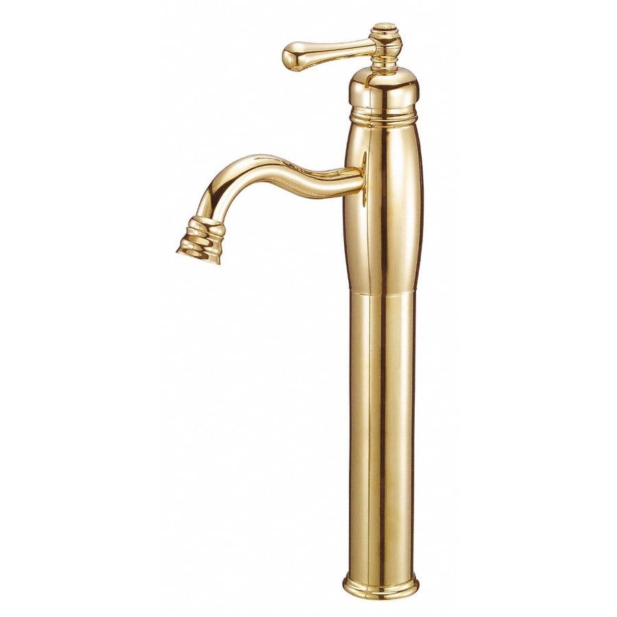 Danze Opulence Polished Brass 1-Handle Single Hole WaterSense Bathroom Sink Faucet (Drain Included)