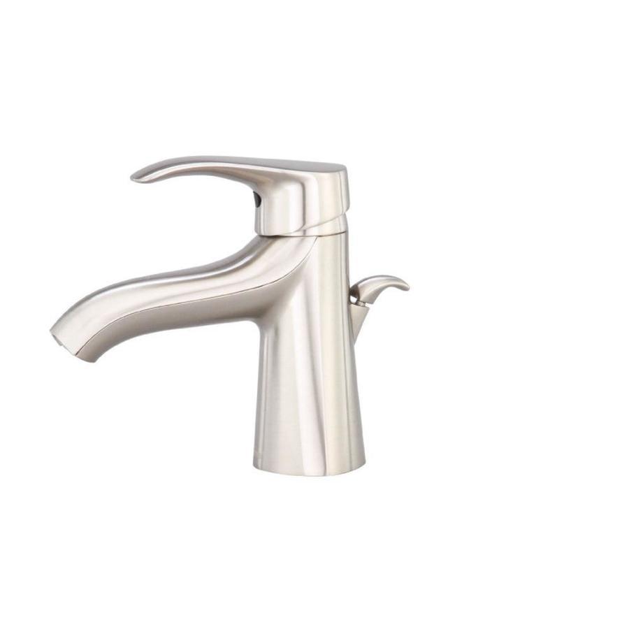 Danze Corsair Brushed Nickel 1-Handle Single Hole WaterSense Bathroom Faucet (Drain Included)
