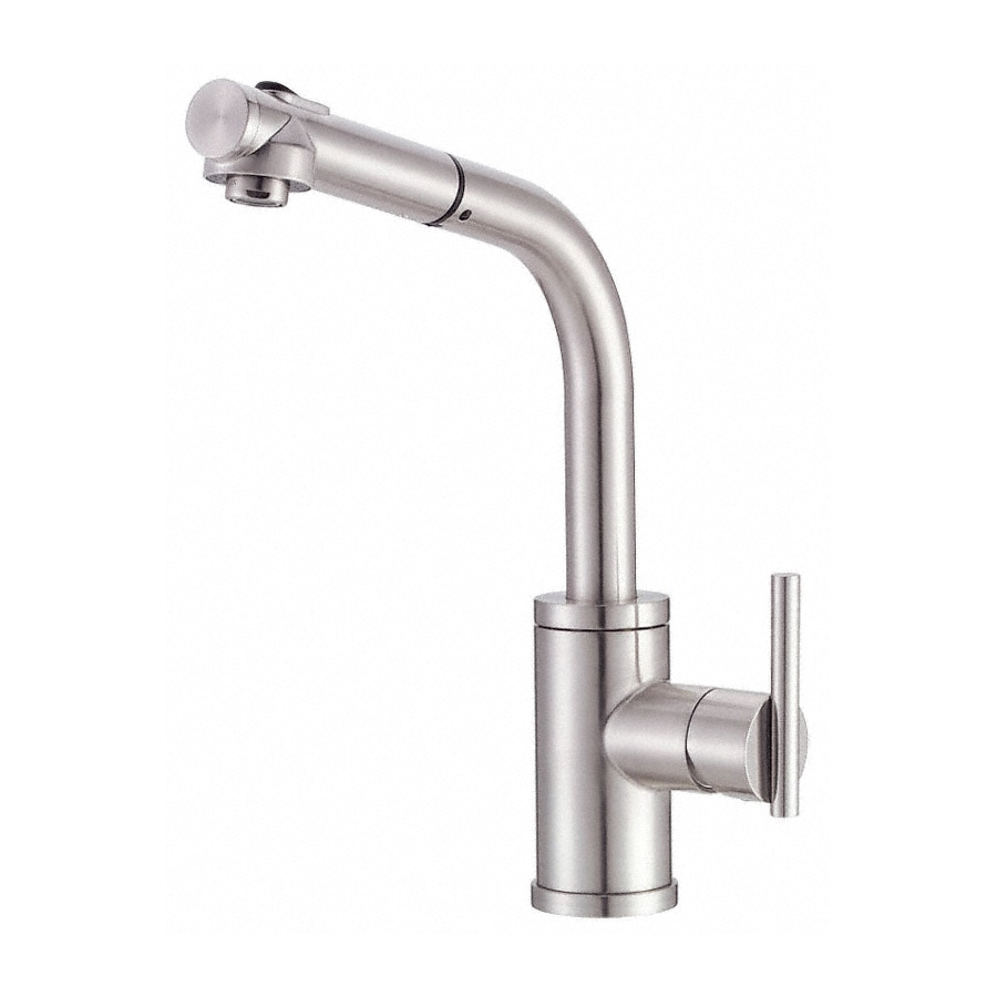 Danze Kitchen Faucet : Shop Danze Parma Stainless Steel 1-Handle Pull-Out Kitchen Faucet at ...