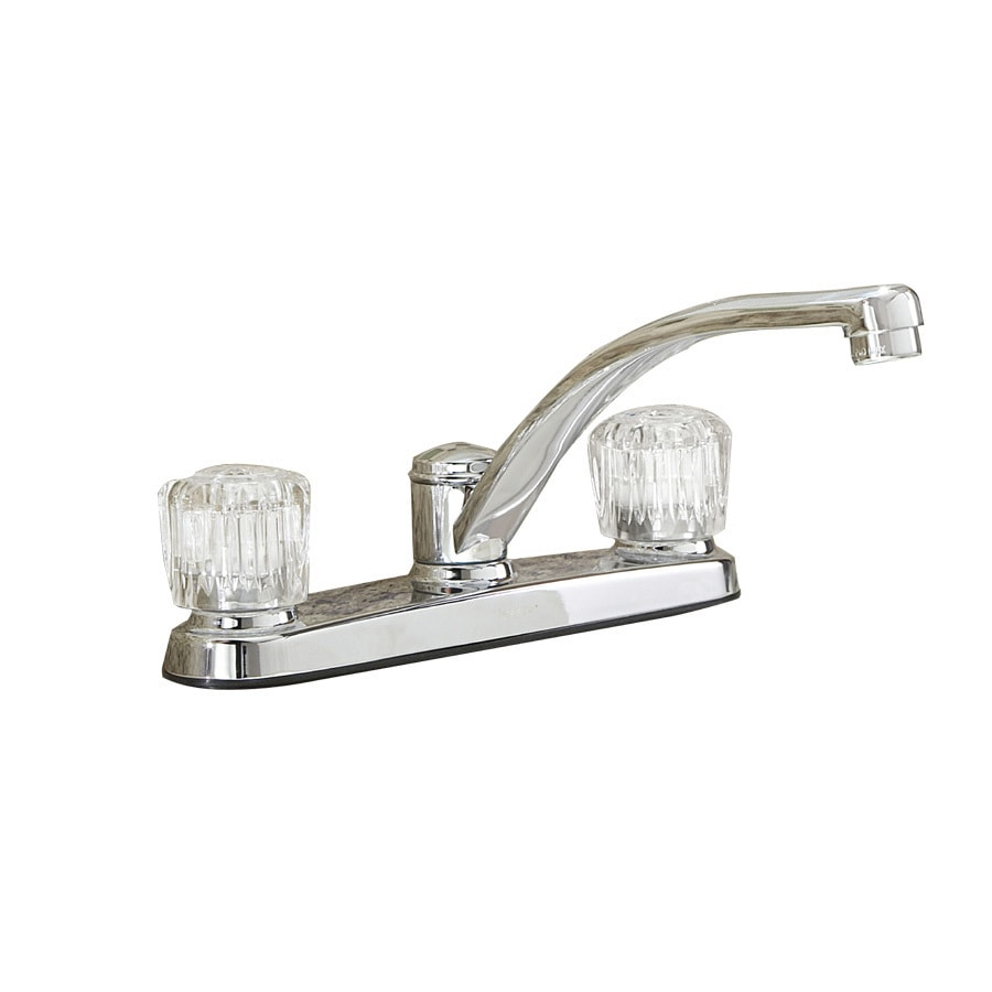 Shop Project Source Chrome 2-Handle Low-Arc Kitchen Faucet