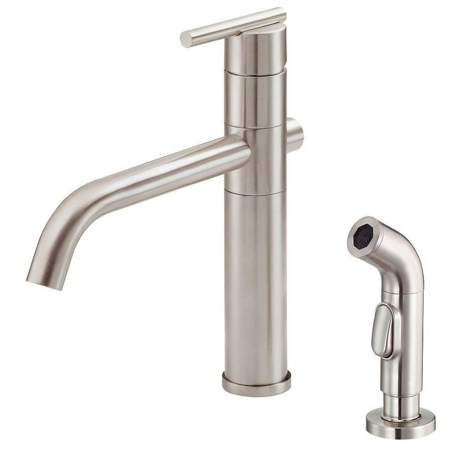 Danze Parma Stainless Steel 1-Handle High-Arc Kitchen Faucet with Side Spray