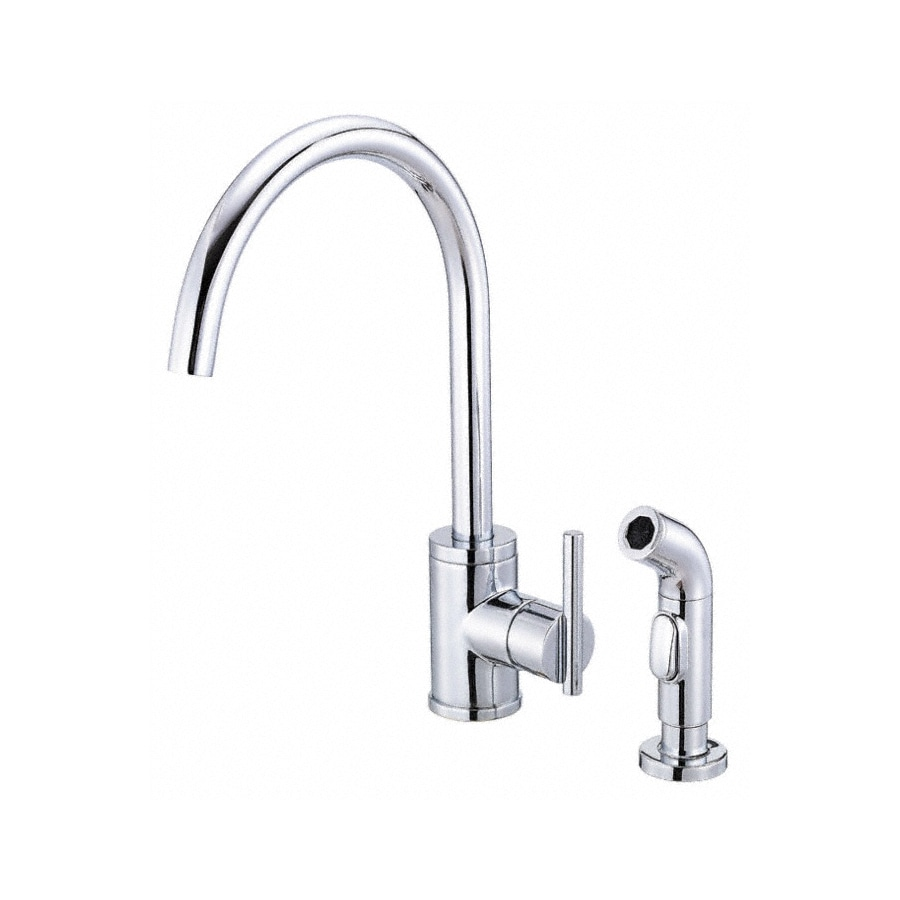 Shop Danze Parma Chrome 1 Handle High Arc Kitchen Faucet With Side Spray At