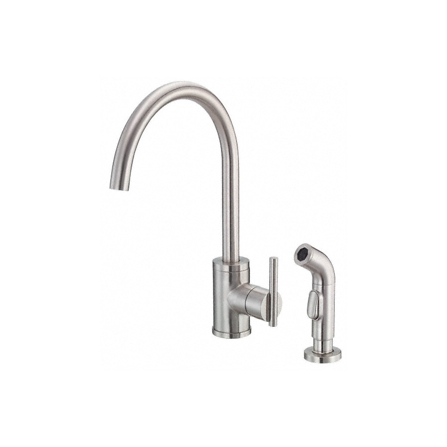 Shop Danze Parma Stainless Steel 1 Handle High Arc Kitchen Faucet With Side Spray At