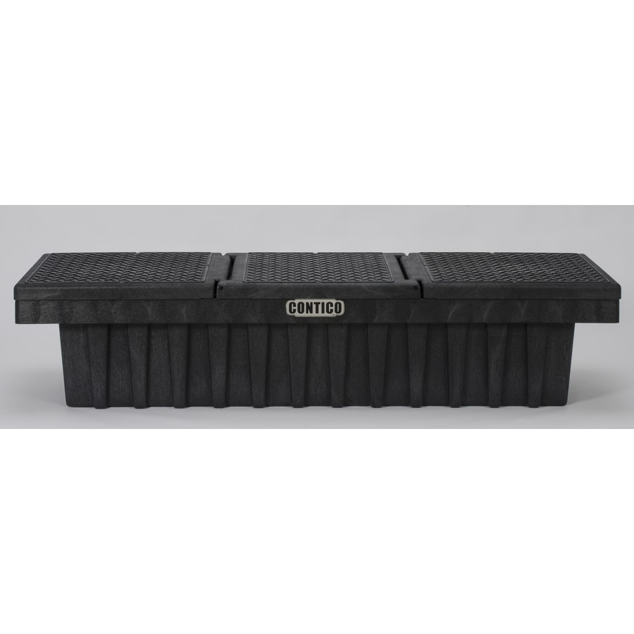 CONTICO 71.25-in x 21.5-in x 16.25-in Black Plastic Full-Size Truck Tool Box