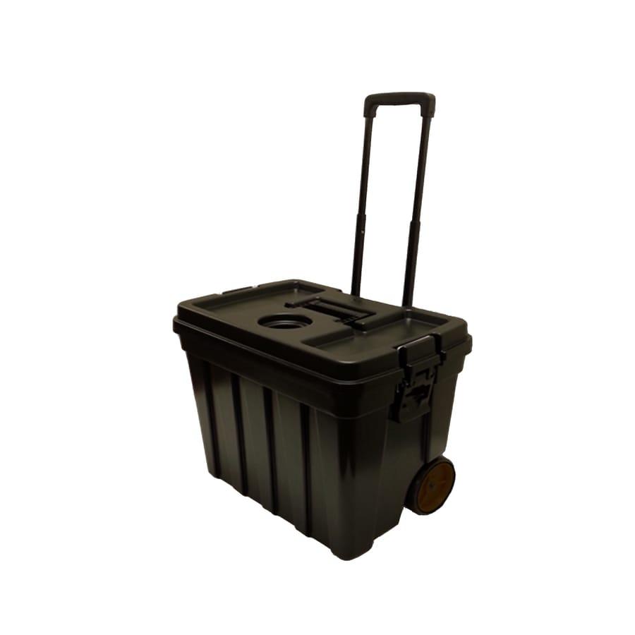 CONTICO 22-Gallon Black Wheeled Plastic Storage Trunk