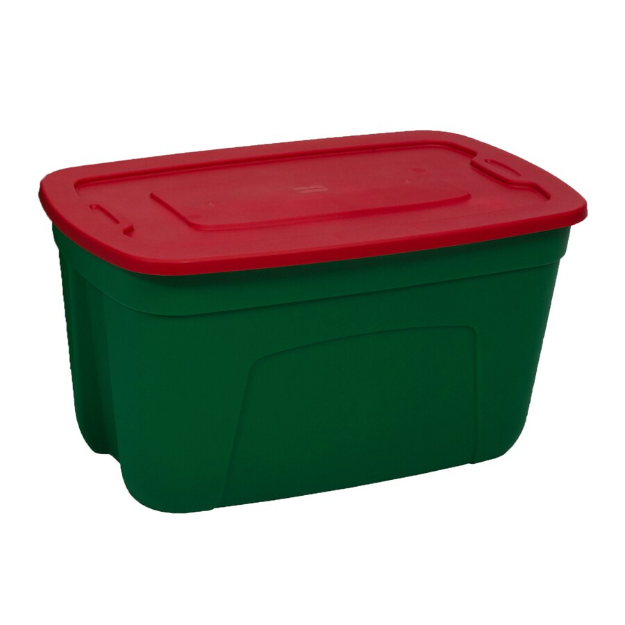 Style Selections 18-Gallon Green Tote with Standard Snap Lid