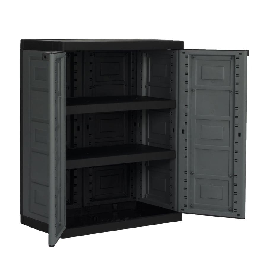 CONTICO 26.8-in W x 34.25-in H x 15.4-in D Plastic Freestanding Garage Cabinet