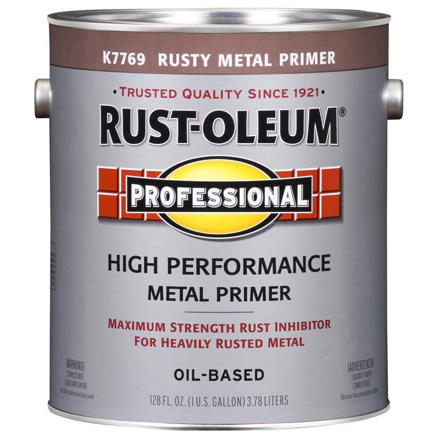 Rust-Oleum Professional Red/Flat Enamel Interior/Exterior Paint (Actual Net Contents: 128-fl oz)