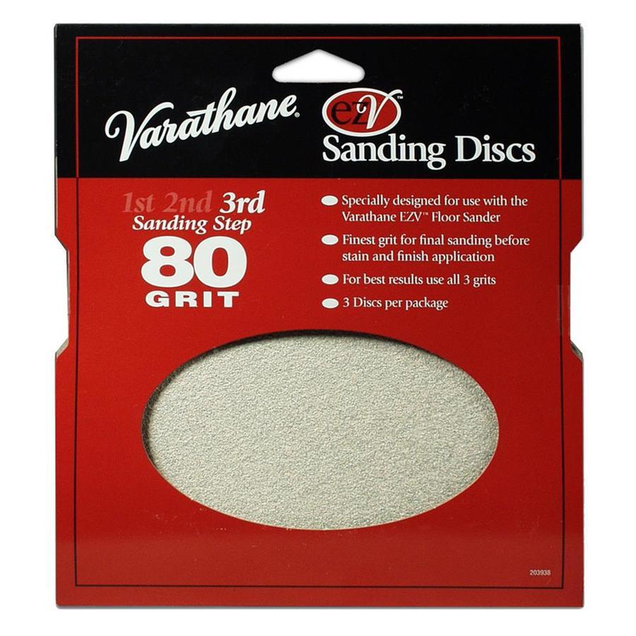 Varathane EZV 3-Pack 0.25-in W x 7.625-in L 36-Grit Commercial Floor Sander Disc Sandpaper