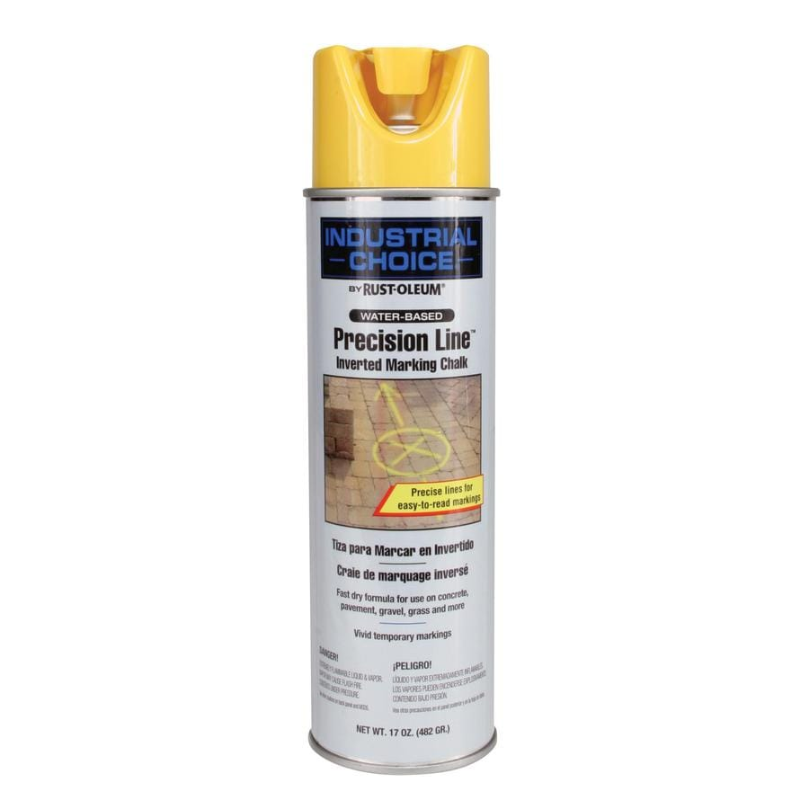 Rust-Oleum Industrial Choice Marking Yellow Chalky Fade Resistant Spray Paint (Actual Net Contents: 17-oz)