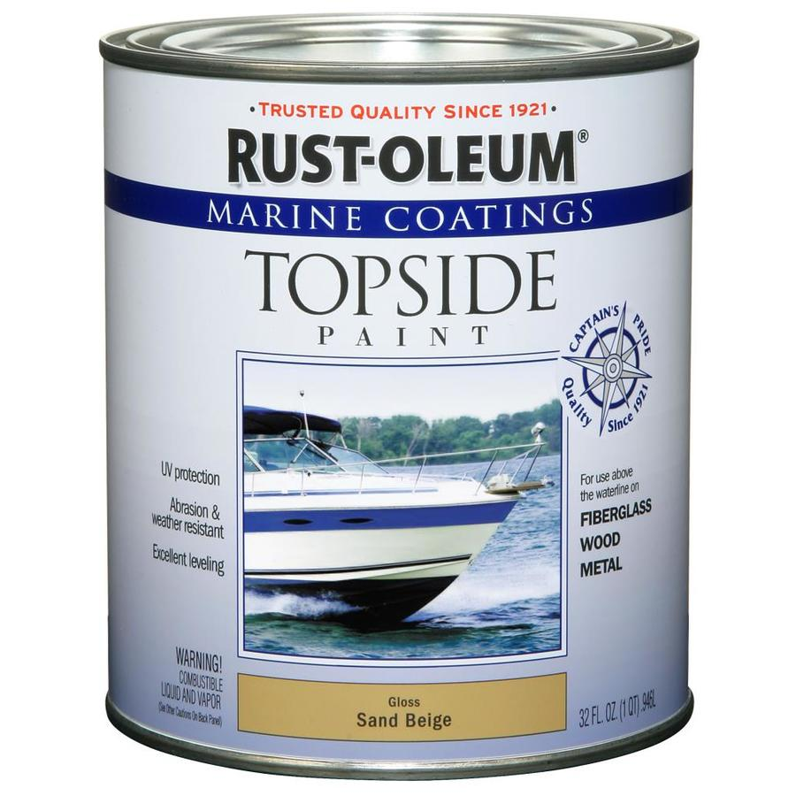 Rust-Oleum Marine Coatings Sand Beige Gloss Enamel Oil-Based Marine Paint (Actual Net Contents: 32-fl oz)