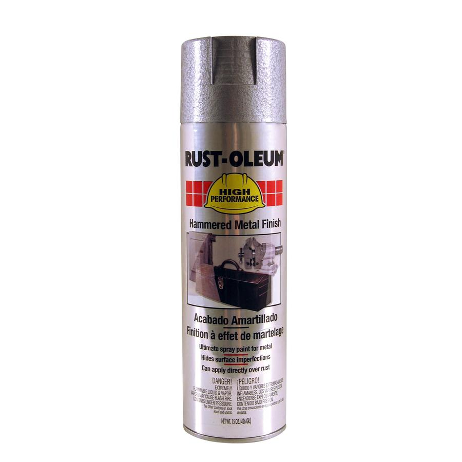 Shop Rust Oleum High Performance Silver Hammered Rust Resistant Enamel Spray Paint Actual Net