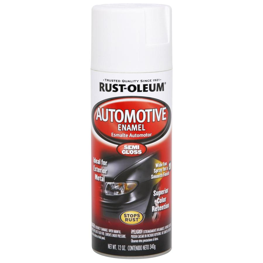 Rust-Oleum Auto 12-oz White Flat Spray Paint
