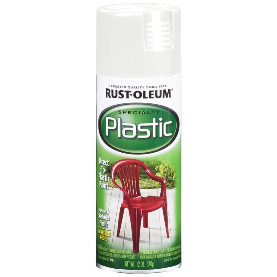 Rust-Oleum Specialty Paint for Plastic White Fade Resistant Spray Paint (Actual Net Contents: 12-oz)
