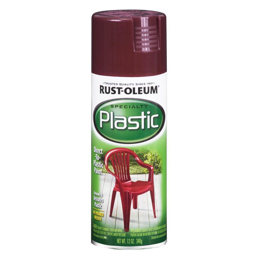Rust-Oleum Specialty Paint for Plastic Claret Wine Fade Resistant Spray Paint (Actual Net Contents: 12-oz)