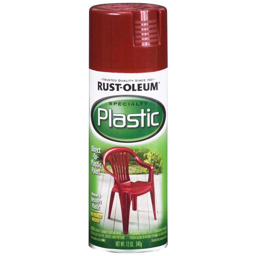 Rust-Oleum Specialty Paint for Plastic Sunrise Red Fade Resistant Spray Paint (Actual Net Contents: 12-oz)