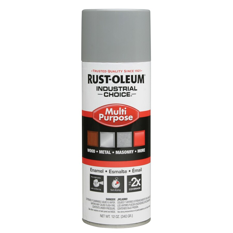 Rust-Oleum Industrial Choice Ansi 61 Light Gray Fade Resistant Enamel Spray Paint (Actual Net Contents: 12-oz)