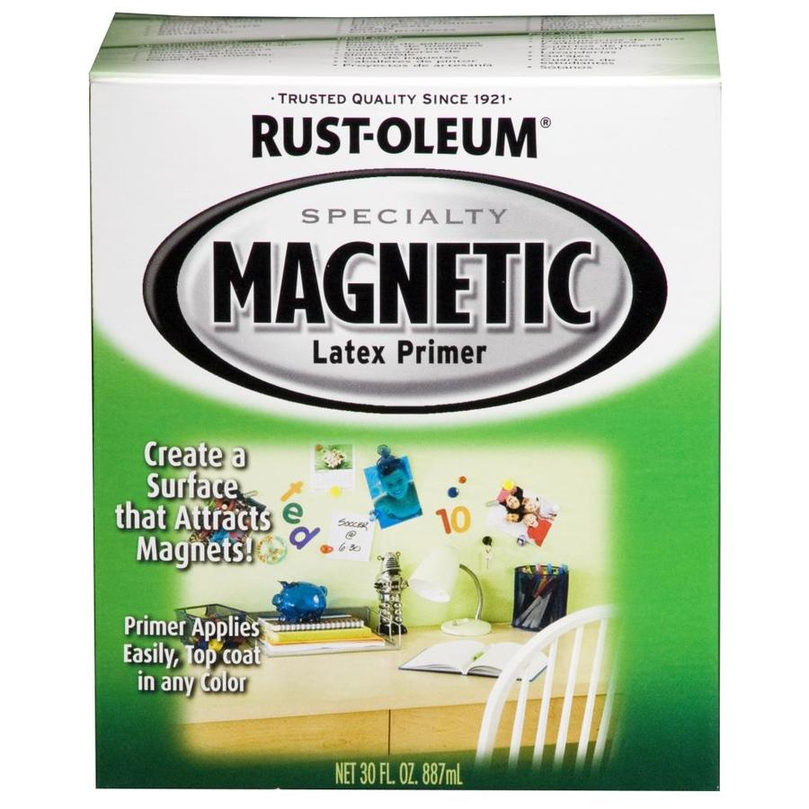 Rust-Oleum Black Flat Magnetic Water-Based Enamel Interior Paint and Primer in One (Actual Net Contents: 32-fl oz)