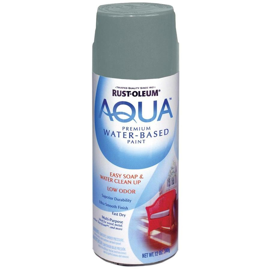 Rust-Oleum Aqua 12-oz Gray Flat Spray Paint