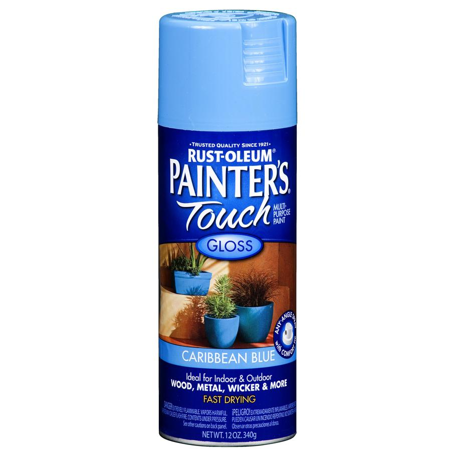 Rust-Oleum 12-oz Caribbean Blue Gloss Spray Paint