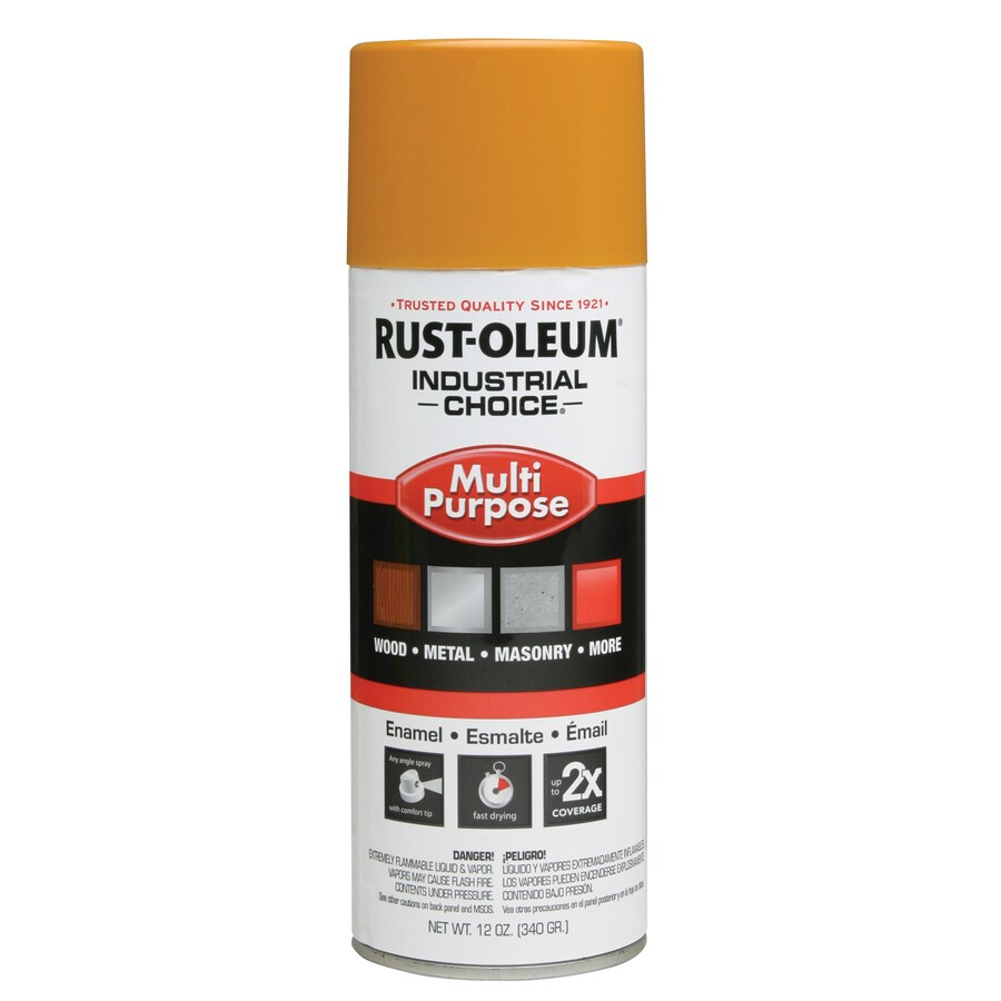 Rust-Oleum Industrial Choice School Bus Yellow Fade Resistant Enamel Spray Paint (Actual Net Contents: 12-oz)