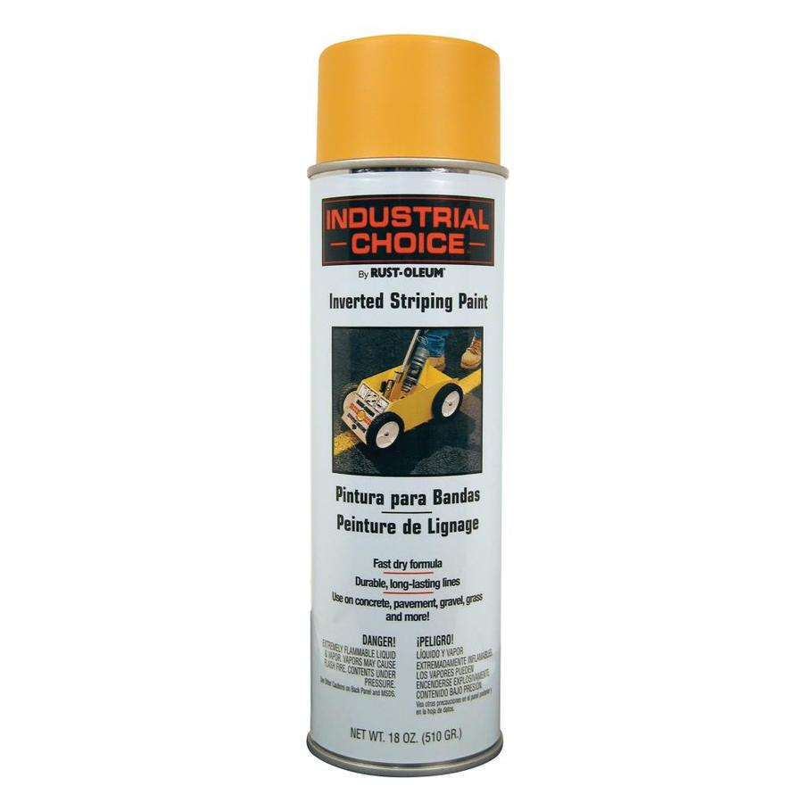 Rust-Oleum Industrial Choice Striping Yellow Fade Resistant Enamel Spray Paint (Actual Net Contents: 18-oz)