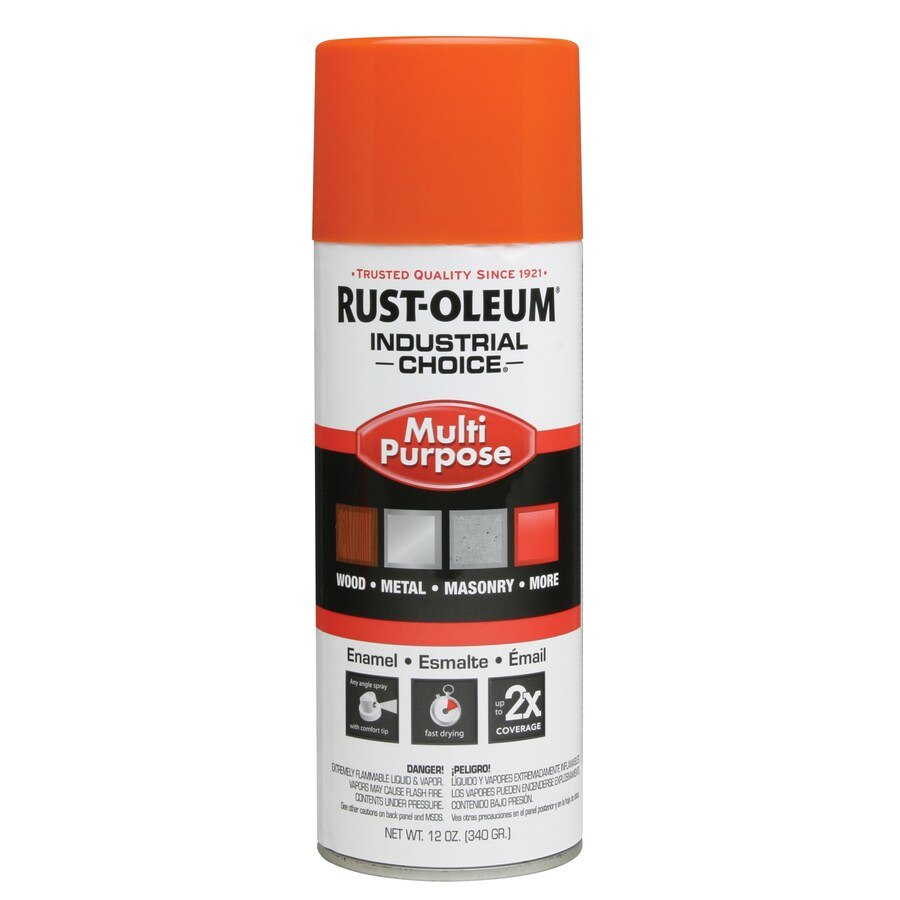 Rust-Oleum Industrial Choice Safety Orange Fade Resistant Enamel Spray Paint (Actual Net Contents: 12-oz)