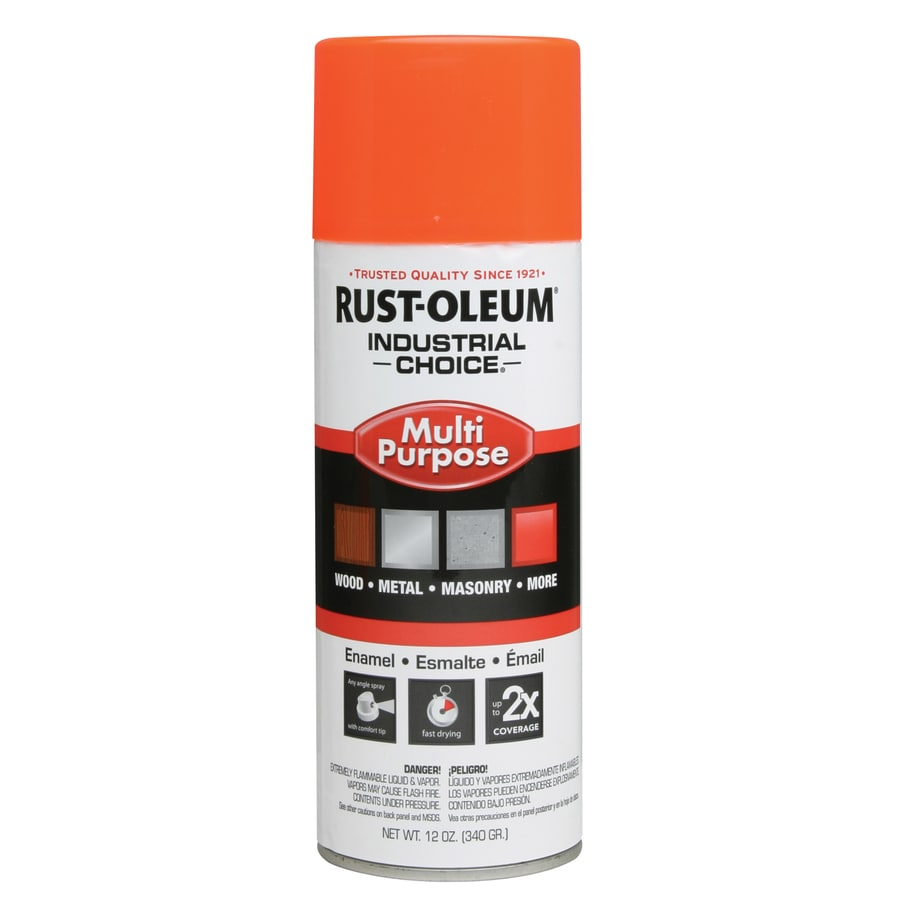 Rust-Oleum Industrial Choice Fluorescent Orange Fade Resistant Enamel Spray Paint (Actual Net Contents: 12-oz)