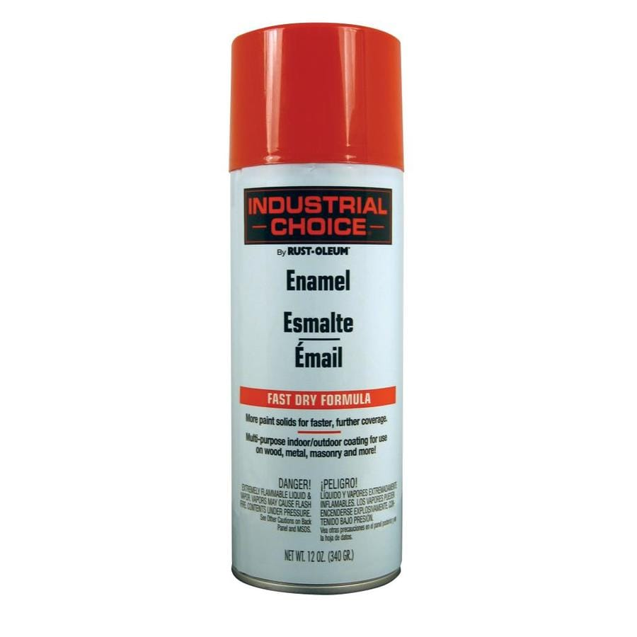 Rust-Oleum Industrial Choice Safety Red Fade Resistant Enamel Spray Paint (Actual Net Contents: 12-oz)