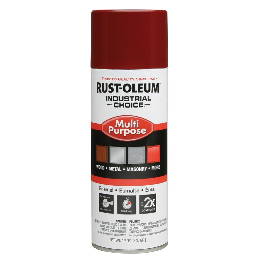 Rust-Oleum Industrial Choice Cherry Red Fade Resistant Enamel Spray Paint (Actual Net Contents: 12-oz)