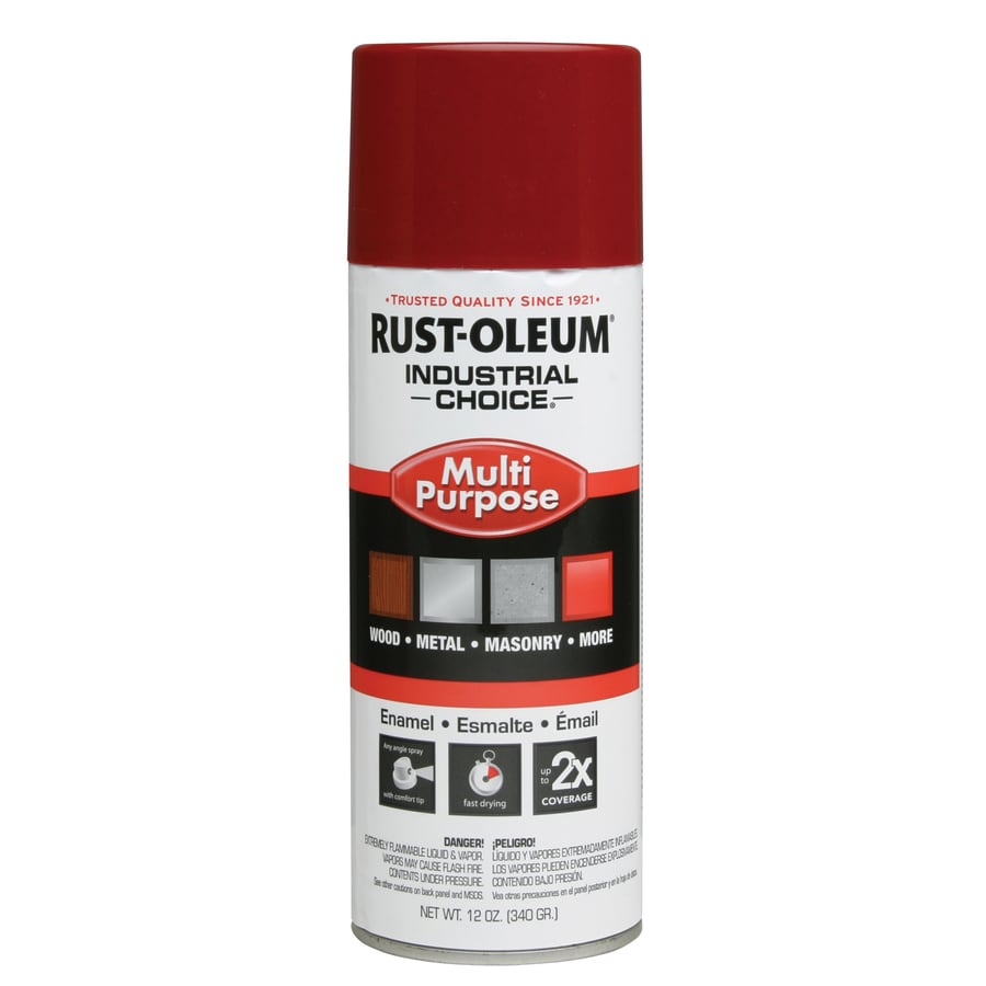 Rust-Oleum Industrial Choice Banner Red Fade Resistant Enamel Spray Paint (Actual Net Contents: 12-oz)