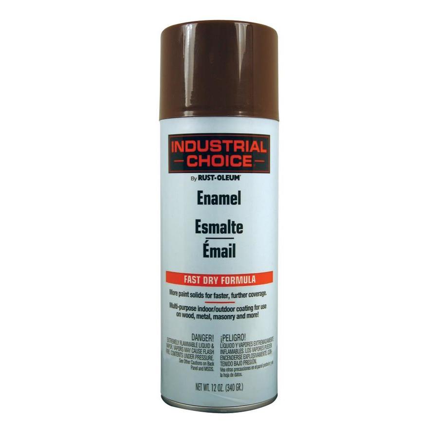 Rust-Oleum Industrial Choice Leather Brown Fade Resistant Enamel Spray Paint (Actual Net Contents: 12-oz)