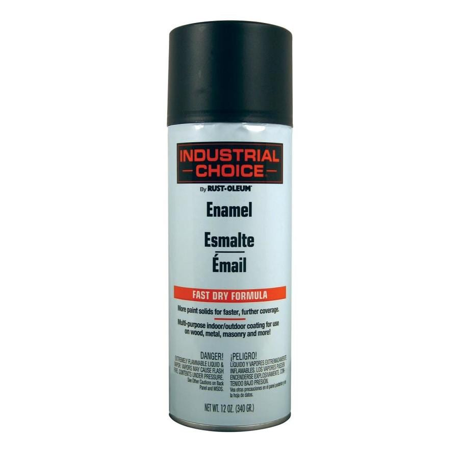 Rust-Oleum Industrial Choice Ultra Flat Black Fade Resistant Enamel Spray Paint (Actual Net Contents: 12-oz)