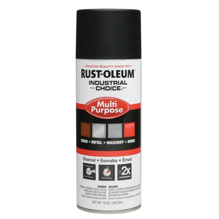 Rust-Oleum Industrial Choice Semi Flat Black Fade Resistant Enamel Spray Paint (Actual Net Contents: 12-oz)