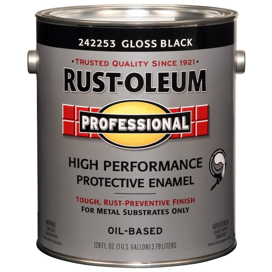 Rust-Oleum Professional Black/Gloss Enamel Interior/Exterior Paint (Actual Net Contents: 128-fl oz)