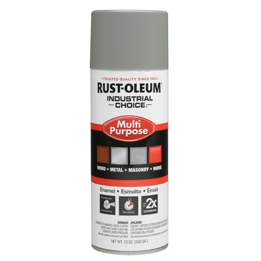 Rust-Oleum Industrial Choice Dove Gray Fade Resistant Enamel Spray Paint (Actual Net Contents: 12-oz)