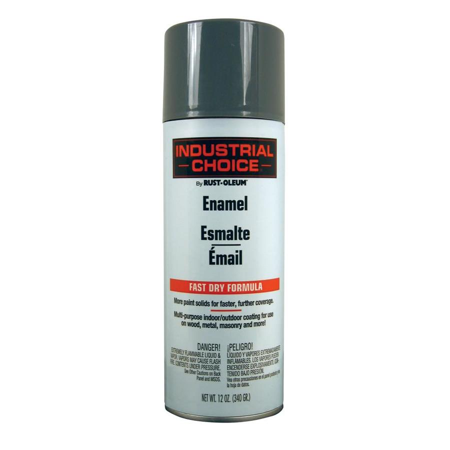 Rust-Oleum Industrial Choice Universal Gray Fade Resistant Enamel Spray Paint (Actual Net Contents: 12-oz)