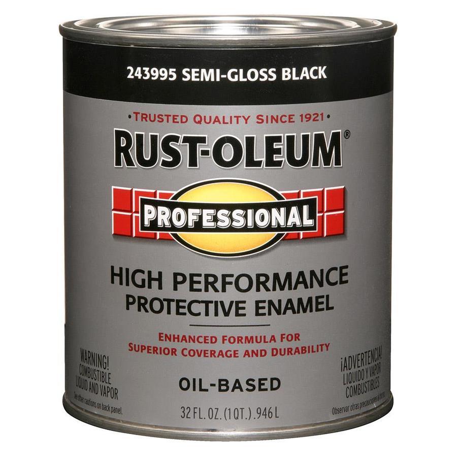 Rust-Oleum Professional Black/Semi-Gloss Semi-Gloss Enamel Interior/Exterior Paint (Actual Net Contents: 32-fl oz)