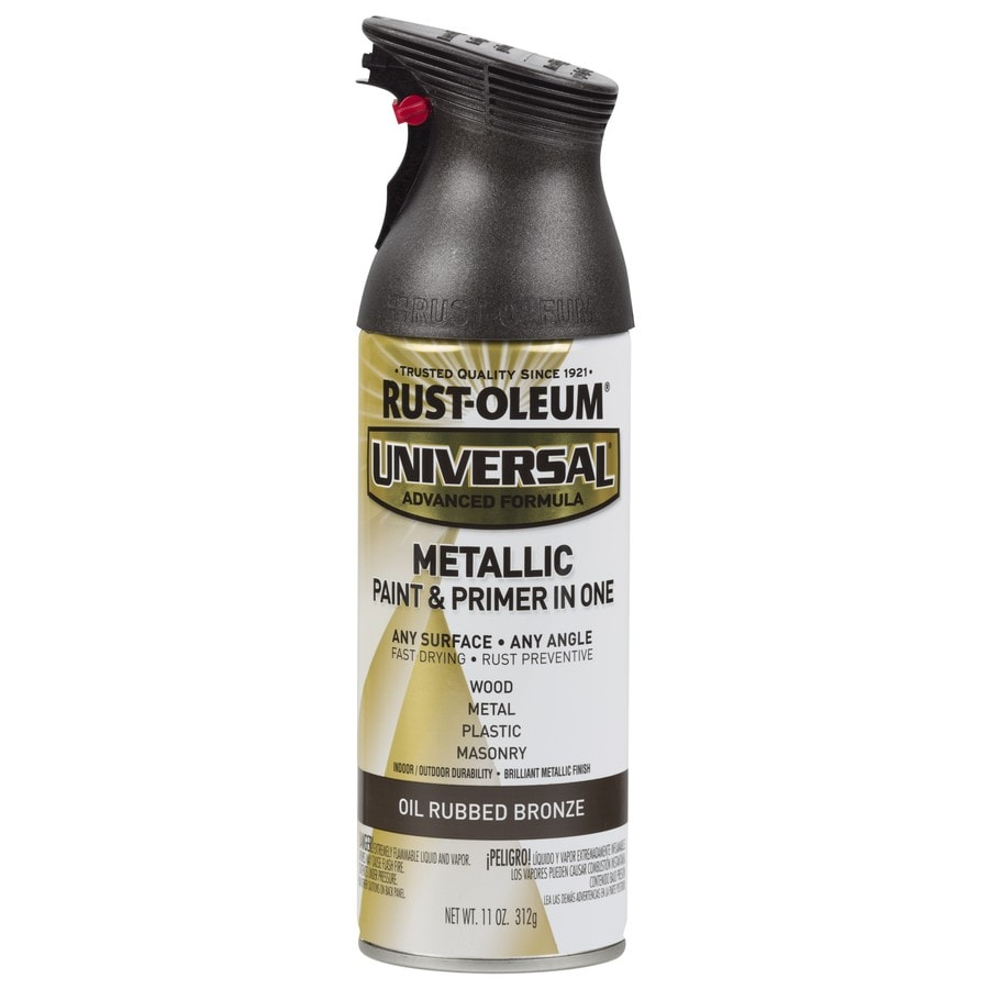 Shop Rust Oleum Universal Oil Rubbed Bronze Metallic Rust Resistant Enamel Spray Paint Actual