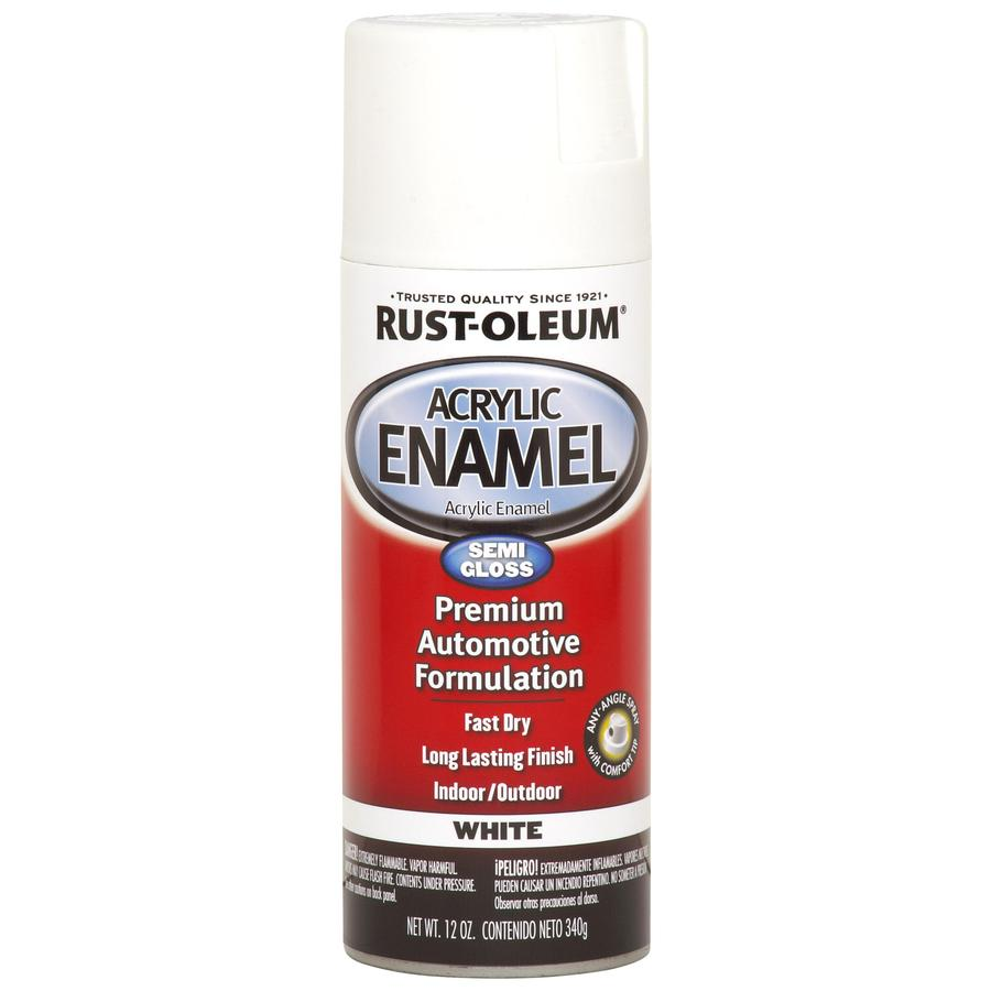 Rust-Oleum Automotive White Fade Resistant Enamel Spray Paint (Actual Net Contents: 12-oz)