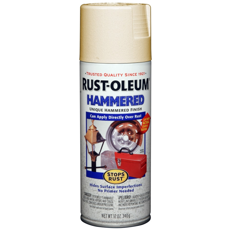 Rust-Oleum 12-oz Hammered Ivory Gloss Spray Paint