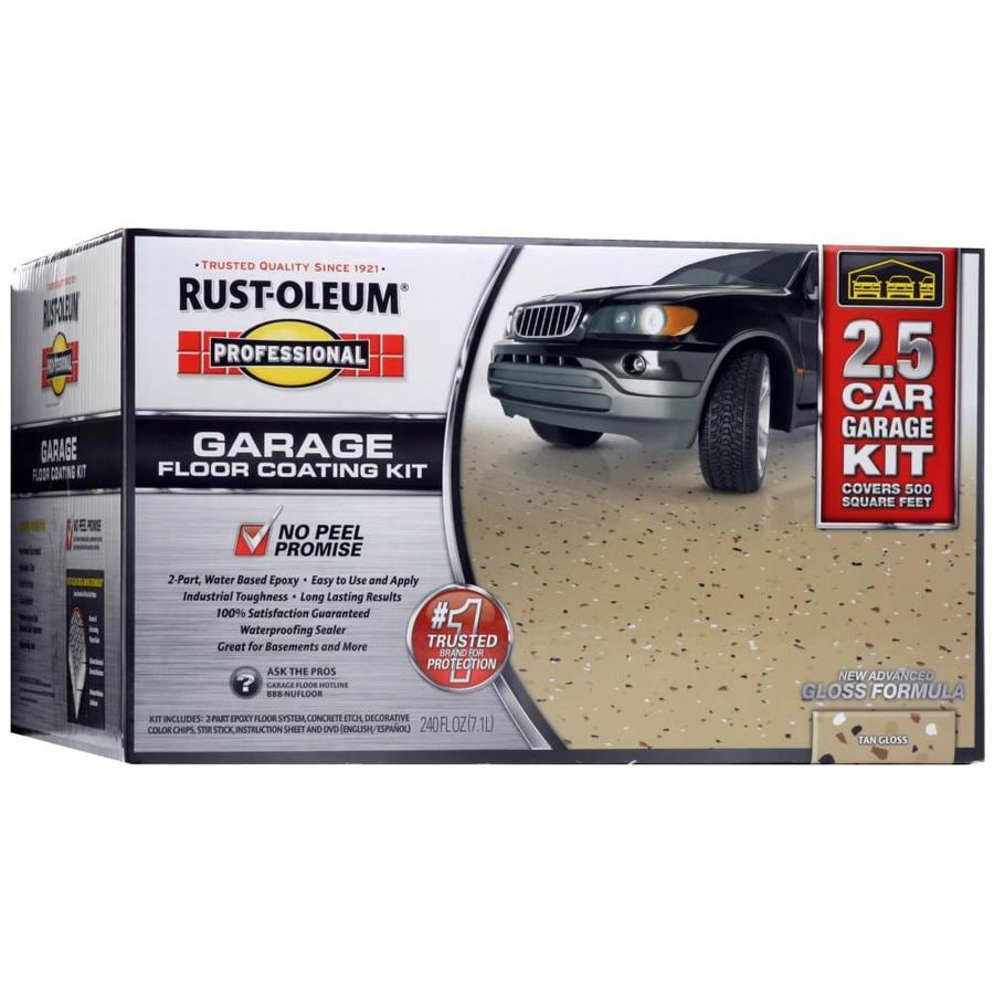 Rust-Oleum Professional High Performance 2-Part Tan Gloss Garage Floor Epoxy (Actual Net Contents: 320-fl oz)