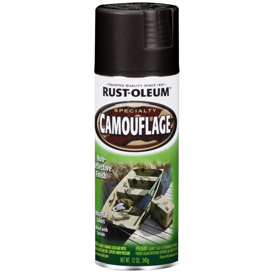 Rust-Oleum Specialty Camouflage Black Fade Resistant Spray Paint (Actual Net Contents: 12-oz)