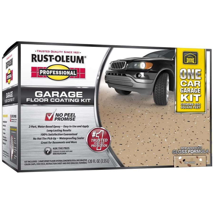 Rust-Oleum Professional High Performance 2-Part Tan Gloss Epoxy Garage Floor Epoxy (Actual Net Contents: 128-fl oz)