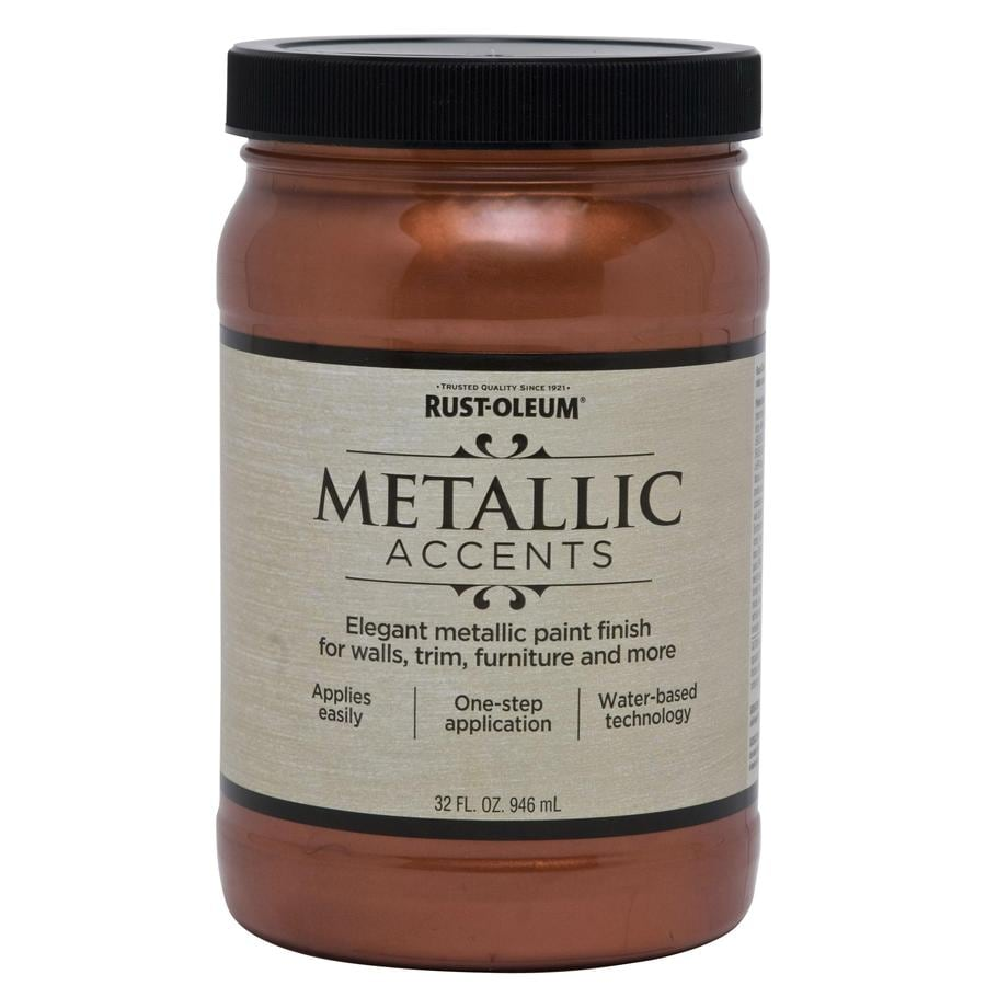 Rust-Oleum American Accents Copper Penny Gloss Metallic Latex Interior Paint (Actual Net Contents: 32-fl oz)