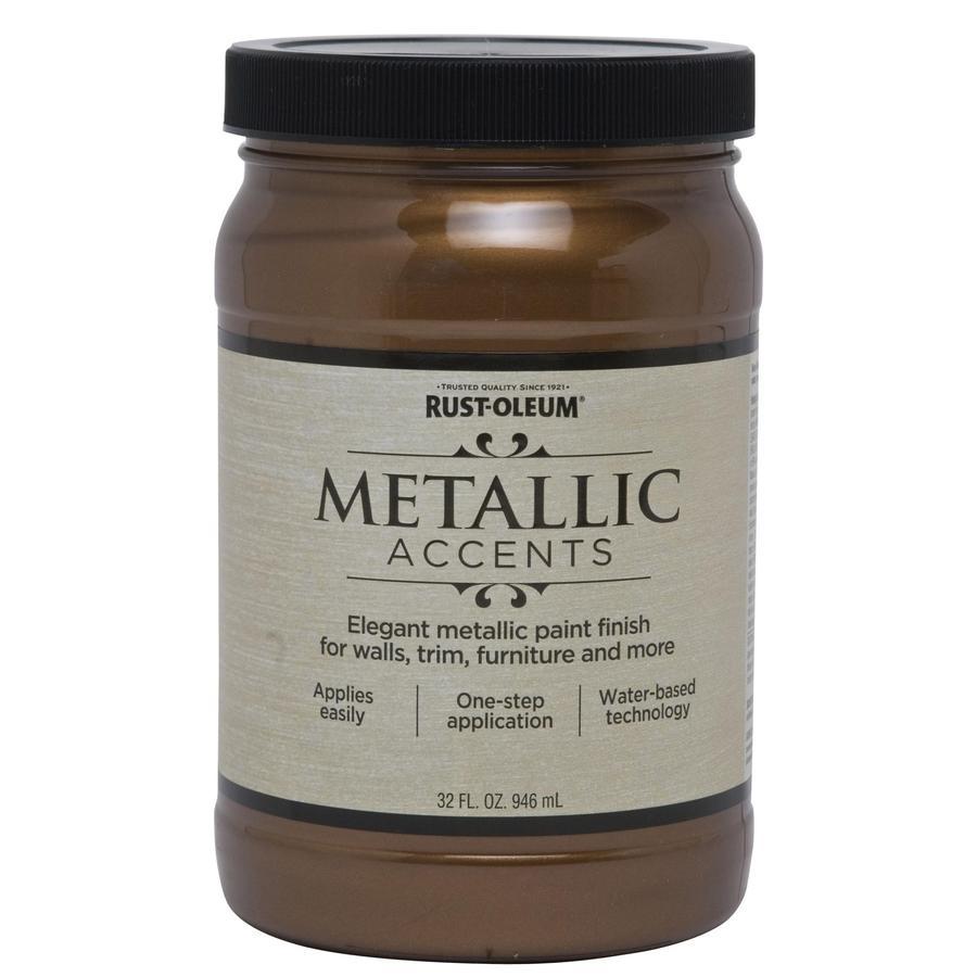 Rust-Oleum American Accents Bronze Metal Gloss Metallic Latex Interior Paint (Actual Net Contents: 32-fl oz)