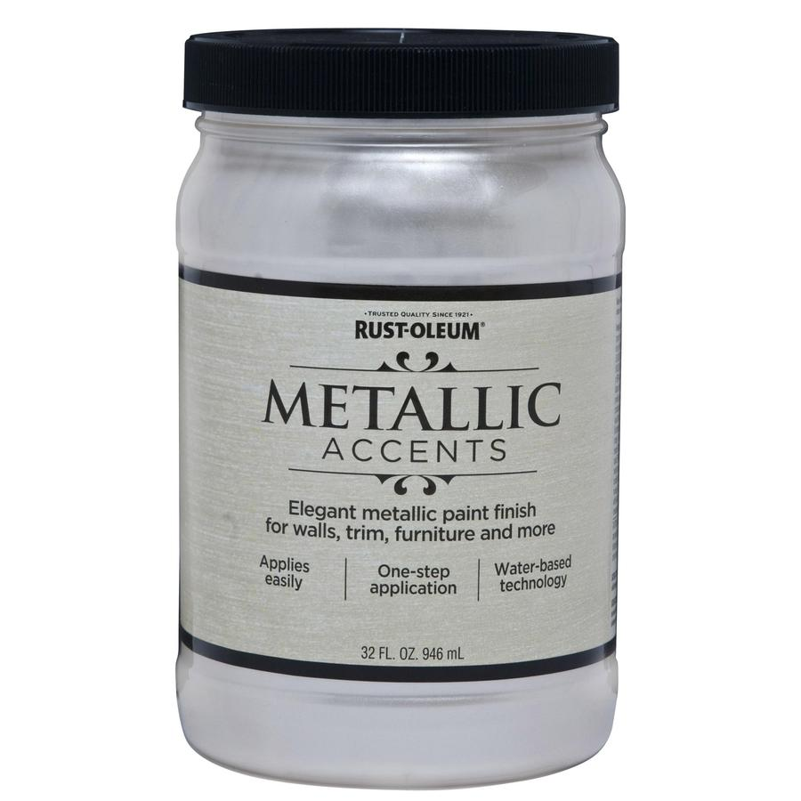 Rust-Oleum American Accents Sea Shell Gloss Metallic Latex Interior Paint (Actual Net Contents: 32-fl oz)