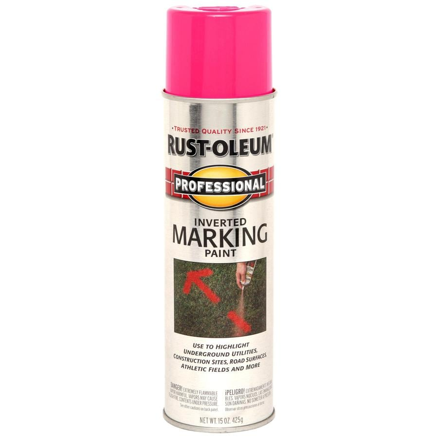 Professional 15-oz Fluorescent Pink Flat Spray Paint