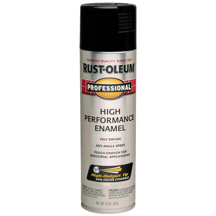 Rust-Oleum Professional Black Rust Resistant Enamel Spray Paint (Actual Net Contents: 15-oz)
