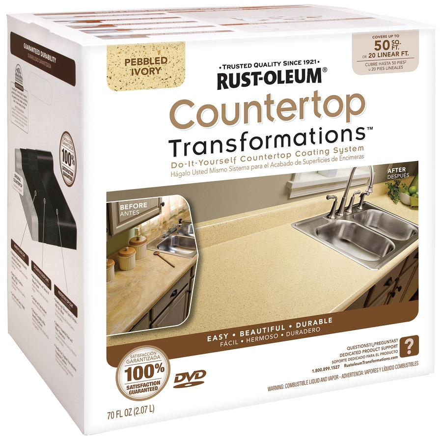 Rust-Oleum Countertop Transformations Pebbled Ivory Semi-Gloss Countertop Resurfacing Kit (Actual Net Contents: 70-fl oz)
